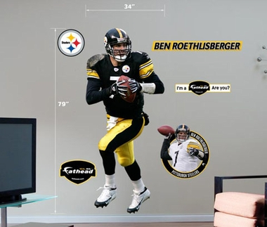 Pittsburgh Steelers Ben Roethlisberger Fathead Wall Graphic