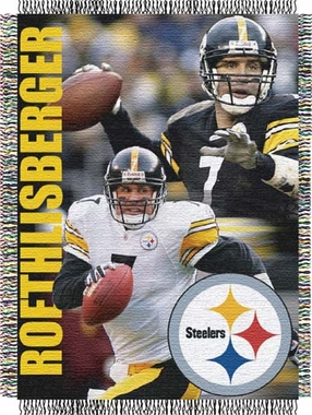 Pittsburgh Steelers Ben Roethlisberger Jacquard Woven Blanket