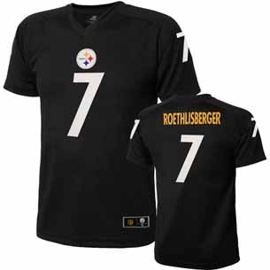 Pittsburgh Steelers Ben Roethlisberger Youth Performance T-shirt - Large