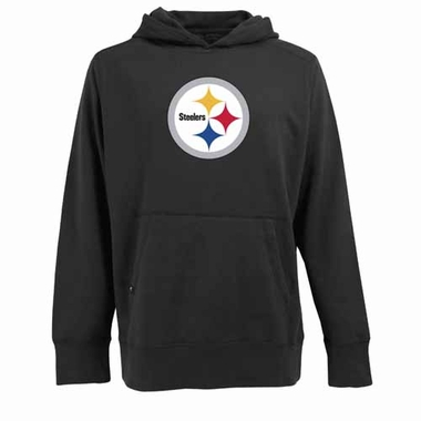 Pittsburgh Steelers Big Logo Mens Signature Hooded Sweatshirt (Team Color: Black)