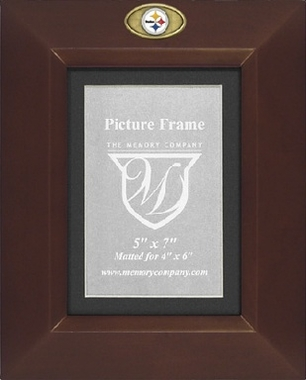 Pittsburgh Steelers BROWN Portrait Picture Frame