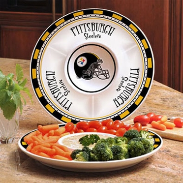 Pittsburgh Steelers Ceramic Chip and Dip Plate