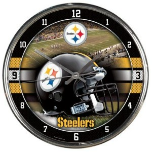Pittsburgh Steelers Chrome Clock