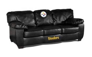 Pittsburgh Steelers Leather Classic Sofa