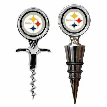 Pittsburgh Steelers Corkscrew and Stopper Gift Set