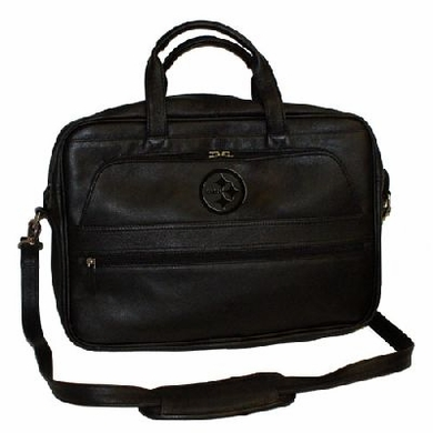 Pittsburgh Steelers Debossed Black Leather Laptop Bag