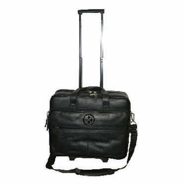 Pittsburgh Steelers Debossed Black Leather Terminal Bag