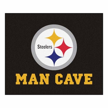 Pittsburgh Steelers Economy 5 Foot x 6 Foot Man Cave Mat