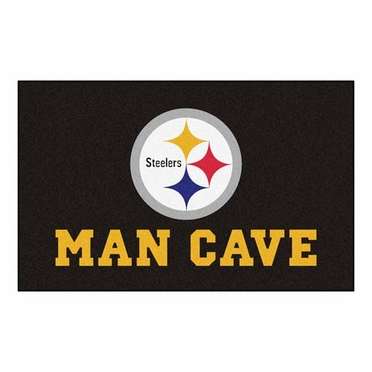 Pittsburgh Steelers Economy 5 Foot x 8 Foot Man Cave Mat
