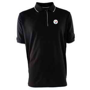 Pittsburgh Steelers Mens Elite Polo Shirt (Color: Black) - XX-Large
