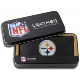 Pittsburgh Steelers Embroidered Leather Checkbook Cover
