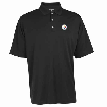 Pittsburgh Steelers Mens Exceed Polo (Team Color: Black)