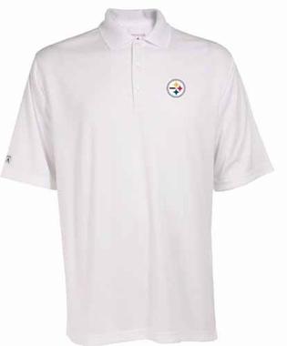 Pittsburgh Steelers Mens Exceed Polo (Color: White)
