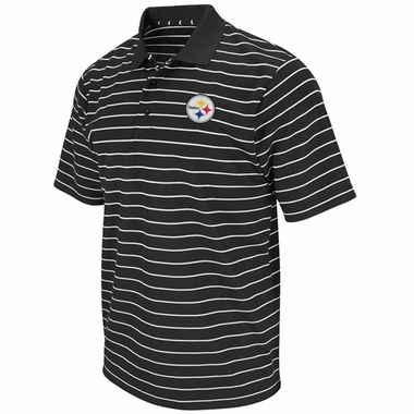 Pittsburgh Steelers FanFare III Climate Striped Polo Shirt