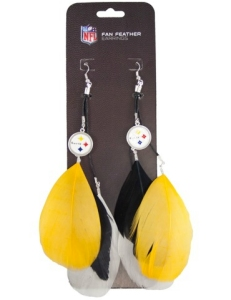 Pittsburgh Steelers Feather Earrings