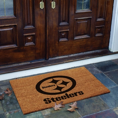 Pittsburgh Steelers Flocked Coir Doormat