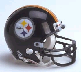 Pittsburgh Steelers Football Helmet - Mini Replica