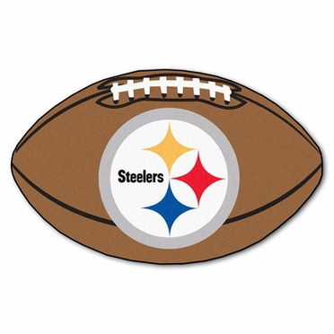 Pittsburgh Steelers Football Shaped Rug