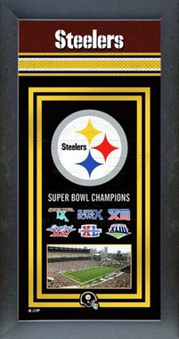 Pittsburgh Steelers Framed Championship Banner
