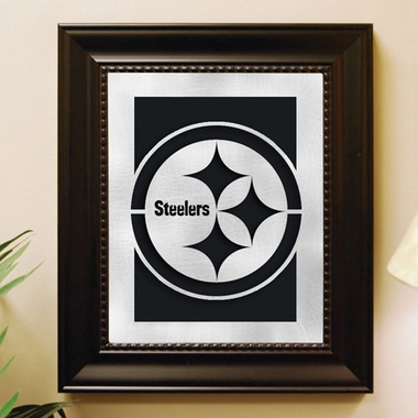 Pittsburgh Steelers Framed Laser Cut Metal Wall Art