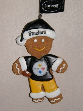 Pittsburgh Steelers Gingerbread Man Christmas Ornament