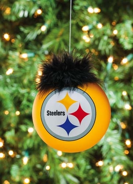 Pittsburgh Steelers Glass Ball Ornament