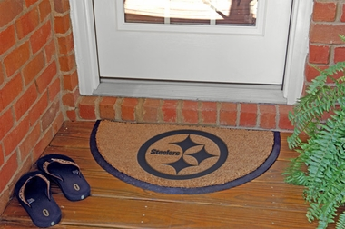 Pittsburgh Steelers Half Moon Door Mat