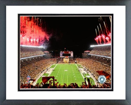 Pittsburgh Steelers Heinz Field Opening Night 2009 16x20 Framed and Double-Matted Photo