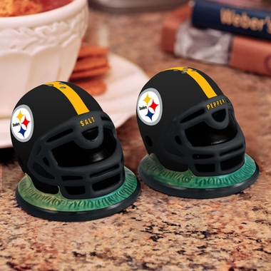 Pittsburgh Steelers Helmet Ceramic Salt and Pepper Shakers