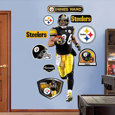 Pittsburgh Steelers Hines Ward Fathead Wall Graphic