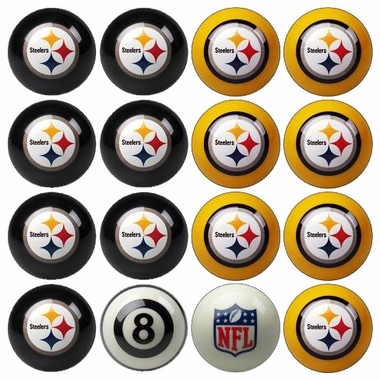 Pittsburgh Steelers Home and Away Complete Billiard Ball Set