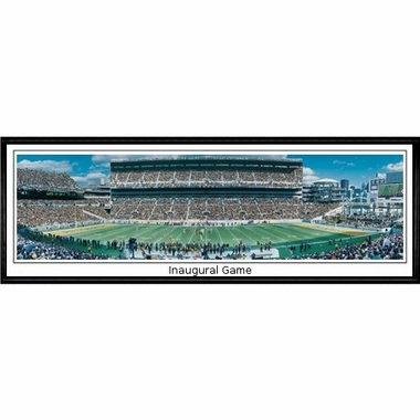 Pittsburgh Steelers Inaugural Game Framed Panoramic Print
