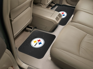 Pittsburgh Steelers SET OF 2 Heavy Duty Vinyl Rear Car Mats