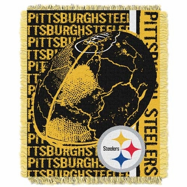 Pittsburgh Steelers Jacquard Woven Throw Blanket