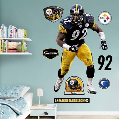 Pittsburgh Steelers James Harrison Fathead Wall Graphic