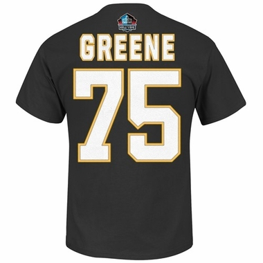 Pittsburgh Steelers Joe Greene Majestic HOF Player T-Shirt - Black
