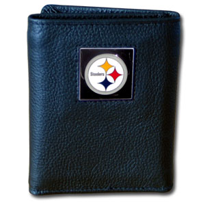 Pittsburgh Steelers Leather Trifold Wallet (F)