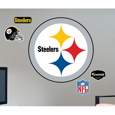 Pittsburgh Steelers Logo Fathead Wall Graphic