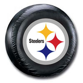 Pittsburgh Steelers Black Logo Tire Cover - Standard Size