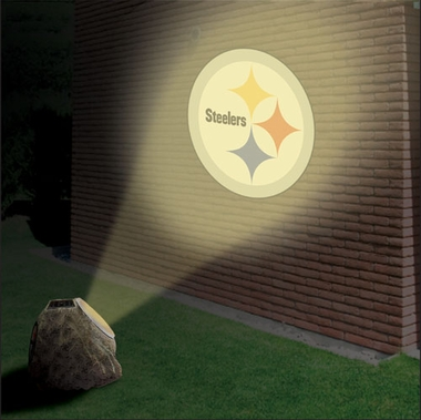 Pittsburgh Steelers Logo Projection Rock
