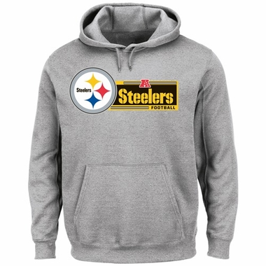 Pittsburgh Steelers Majestic Critical Victory VII Hooded Sweatshirt - Gray