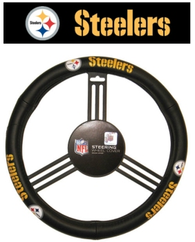 Pittsburgh Steelers Leather Steering Wheel Cover