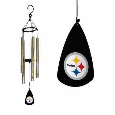 Pittsburgh Steelers Metal Streamer Windchime