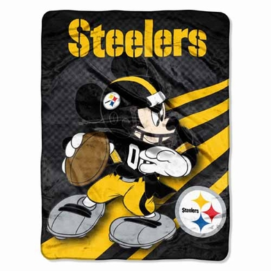 Pittsburgh Steelers Mickey Mouse Microfiber Throw