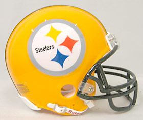 Pittsburgh Steelers Mini Replica Throwback Football Helmet