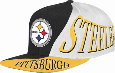 Pittsburgh Steelers Mitchell & Ness The Skew Retro Vintage Snap Back Hat