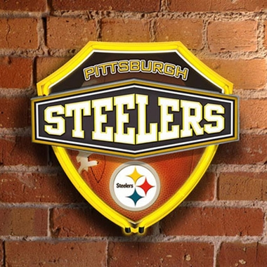 Pittsburgh Steelers Neon Shield Wall Lamp