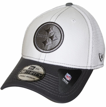 Pittsburgh Steelers New Era 39THIRTY Blitz Neo Fitted Hat - Gray