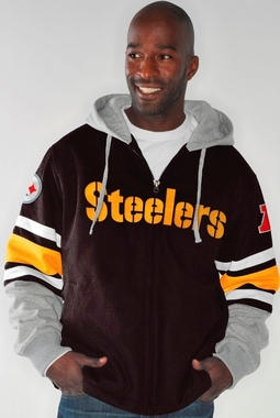 "Pittsburgh Steelers NFL G-III ""1 on 1"" Jersey Hooded Premium Sweatshirt"