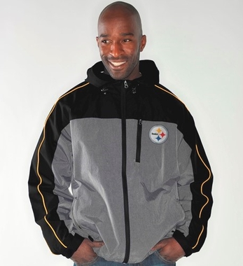 Pittsburgh Steelers NFL G-III Halftime Full Zip Hooded Jacket - Gray